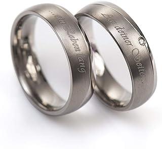 fbf1fb8e6 alianzas Partner anillos de compromiso Anillos Trau Amistad Anillos de  titanio con circonitas/Laser grabado