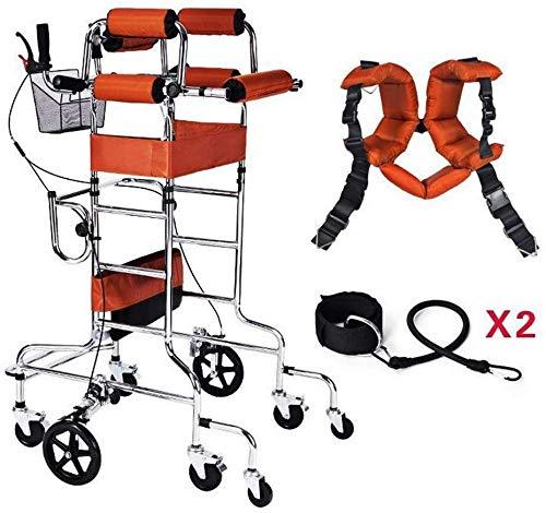 Multifunctionele 8 wielige rollatoren voor volwassenen, rollatorwandelaar met zitstoel, veiligheidsrem mobiliteitshulpmiddelen opgevouwen, hoogte breedte verstelbaar, duurzaam, gemaakt voor gehandicapten en gehandicapten
