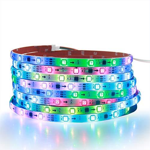 ALITOVE WS2811 LED-Streifen, RGB adressierbar LED-Lichtschlauch 12V 5m 150 LEDs Dream-Farbe programmierbar digital LED-Pixel-Lichter wasserdicht IP65