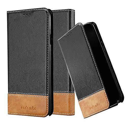 Cadorabo Hülle für Samsung Galaxy Note 3 NEO - Hülle in SCHWARZ BRAUN – Handyhülle mit Standfunktion & Kartenfach aus Einer Kunstlederkombi - Case Cover Schutzhülle Etui Tasche Book
