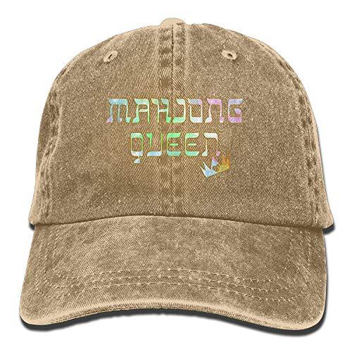 YHDE Mahjong Queen Mahjongg Mah-Jong Chinese Jewish Game1 Adult Sport Adjustable Baseball Cap Cowboy Hat