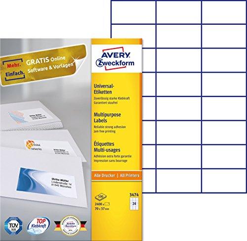 Avery - Etiquetas imprimibles 70 x 37 mm