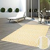 CC Teppich Flachflor Terrassenteppich Außenteppich Modern Outdoor fest Geknüpft Outside Outdoor Verschiedene Designs, Größe in cm:160 x 230 cm, Sunset:Gitter-Grau
