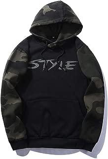 Fastbot Men's Hoodie Fleece Sweatshirt Hooded Pullover Solid Color Camouflage Colorblock Style Warm Outwear Coat Jacket