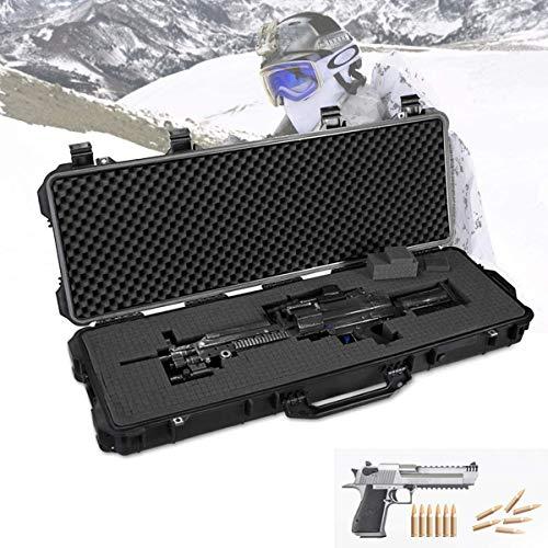 WSVULLD Bolsa De Pistola para Rifle Caja De Almacenamiento De Tiro, Estuche Rígido De Precisión para Pistola De Rifle, Prevención De Incendios Sísmicos, Carcasa Rígida De Plástico Resistente