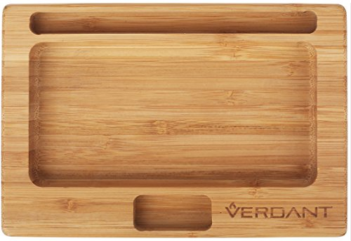 Verdant Bamboo Rolling Tray Small with Cutouts...