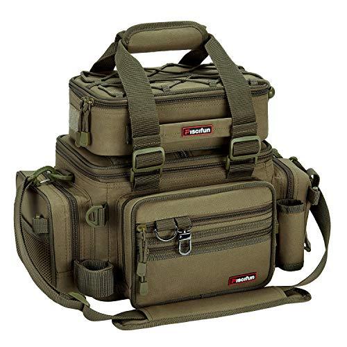 Piscifun Outdoor Fishing Tackle Box Bag Military-Grade Multifunctional Large Storage Tackle Pack...