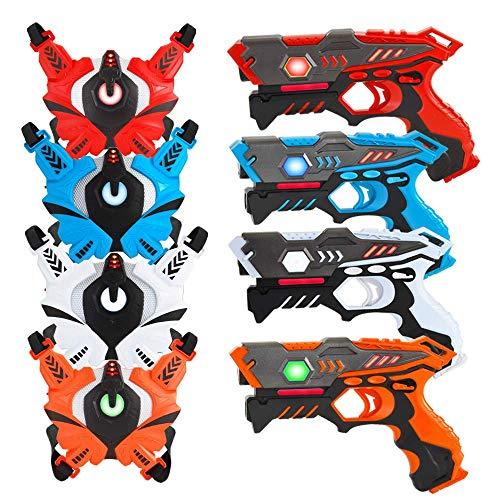 VATOS Infrarrojo Laser Tag Armas y Chalecos, Juego de Juego de Rótulos Láser para Niños y Adultos, Armas de Juguete para Niños