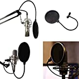 Microphone de studio Mic pare-brise Pop filtre Masque Shield 360Support flexible