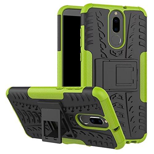 Huawei Mate 10 Lite Hülle, GOGME Rugged TPU / PC Hybrid Armor Schutzhülle. Anti-Scratch PC Rückwand Schale + Stoßfeste TPU Innenschutzabdeckung + Faltbarer Halterungen, Green