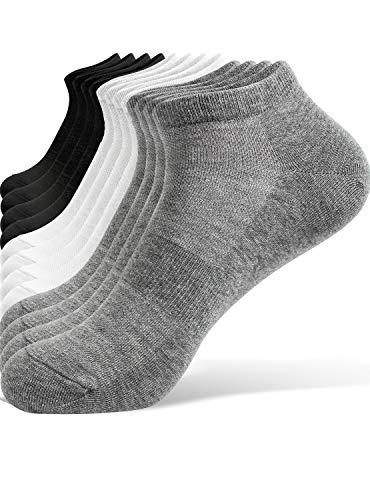 TRENDOUX Calcetines Tobilleros Hombre, 6 Pares de Calcetines Hombre - Calcetines Tobilleros Mujer Calcetines Cortos Pinkis de Algodón Respirable Antideslizantes Calcetines Deporte Running - M