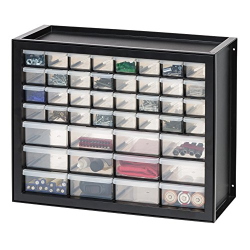IRIS USA DPC-44 Parts and Hardware Cabinet, 44 Drawers, Black