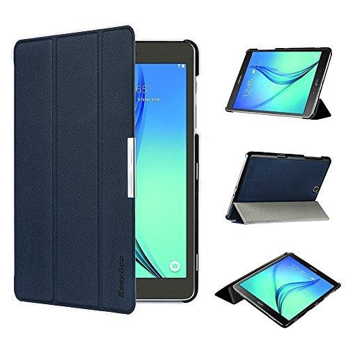 EasyAcc Galaxy Tab A 9.7 Funda Smart Case Funda Carcasa con Stand Función y Auto-Sueño/Estelar para Samsung Galaxy Tab A 9.7 Pulgadas Azul Oscuro