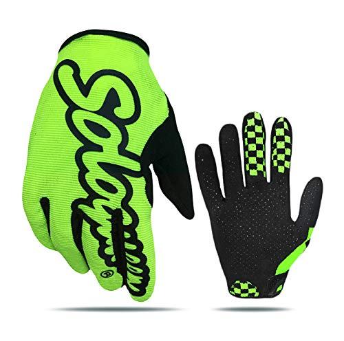 SOLO QUEEN Nur Handschuhe für Radfahrer, atmungsaktiver Handschuh, für Fahrräder und Motorräder von Suburbio. XL gelb