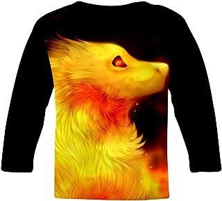 Elcacf Kids Creative Fire Dragon Comfortable Print T-Shirts Short Sleeve Children Tees Funny Creative Boys Girls