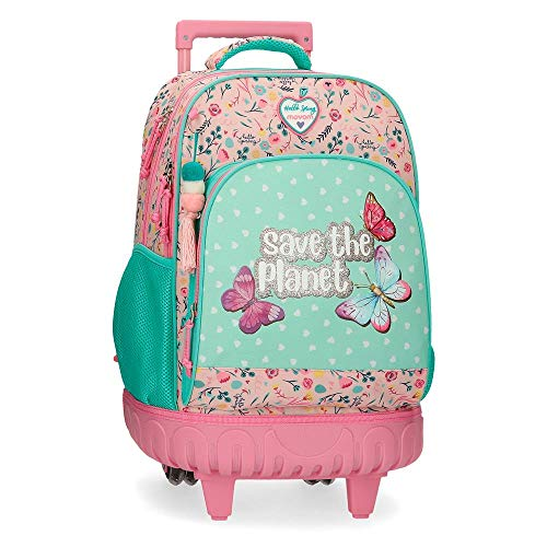 Movom Save The Planet Mochila 2 Ruedas Multicolor 34x44x21 cms Poliéster Reciclado 31.42L