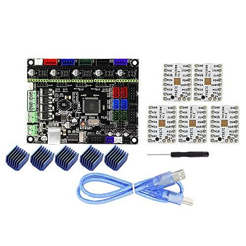 Shumo Mks Gen L V1.0 Integrierter Controller Mainboard + 5 Stücke Tmc2208 Schritt Motor Treiber für 3D Drucker mit USB C