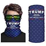 Second Skin USA Trump 2020 Face Mask Neck Gaiter - Unisex Multifunctional - Cool Mask for Outdoor Activities Like Camping, Running, Fishing, Hunting - Bandana for UVA UVB Protection