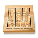 WE Games Custom Engraved Wooden Sudoku Board - Storage Drawers for Wooden Numbered Tiles