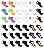 Broadway Apparel Womens Bulk 36 Pack Ultimate Athletic Sport Low Cut Casual Ankle Socks (Shoe Size 9-11)