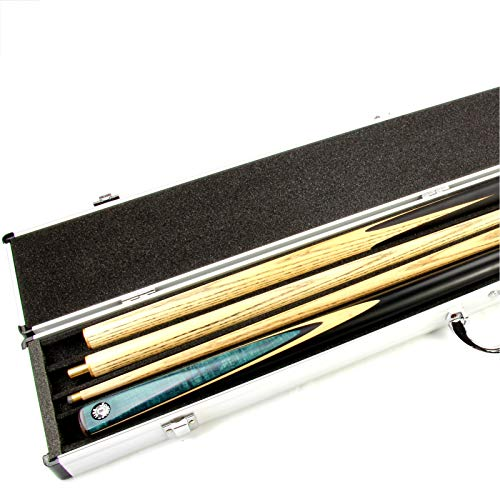 Jonny 8 Ball Unisex 2 Cue Aluminium Pool Snooker Cue Case For Centre Joint Cues - Holds 2 Cues Billardqueue-Koffer für 2 Queues, Aluminium, für 2 Queues., 0,