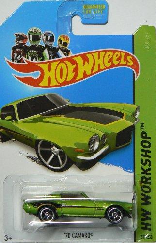 Hot Wheels 2014 Muscle Mania Hw Workshop Green \'70 Camaro 231/250 by Mattel (English Manual)