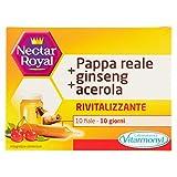 NECTAR ROYAL PAPPA REALE + GINSENG + ACEROLA Vitarmonyl • Integratore 10 fiale • Rivitalizzante • Registrato Ministero Salute Italiano