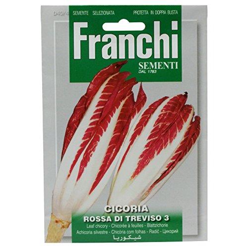 Franchi Radicchio Rossa Di Trevis Blattzichorie-Samen, italienische Aufschrift