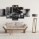 zuomo Pinturas en Lienzo Ilustraciones Impresas Modernas 5 Piezas Nissan Skyline GTR Imágenes de automóviles Cabecera de Cama Decoración de Pared para el hogar Posters 30x40 30x60 30x80cm Sin Marco