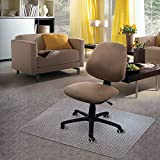 Kuyal Carpet Chair Mat, 48' x 36' PVC Home Office Desk Chair Mat for Floor Protection, Clear, Studded, BPA Free Matte Anti-Slip (36' X 48' Rectangle)