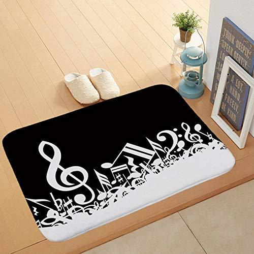 Vloermatten Antislip deurmatten Stofdichte deurmatten voor buiten Muzieknoot voor buiten Vloerkleed-EEN_60 * 90