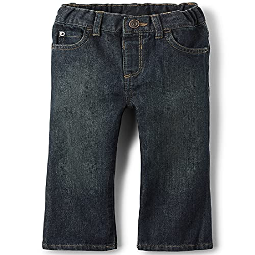 The Children's Place Baby Boys and Toddler Boys Basic Bootcut Jeans, Dry Indigo, 5T