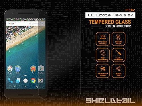 [2Pack] screenzies® LG Nexus 5X Cristal Templado Protector de pantalla–anti huella digital...