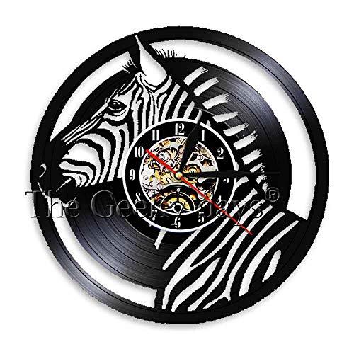 1 Pieza Silent Horse Creature Reloj de Pared con Registro de Vinilo...