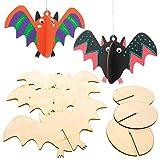 Decorazioni Pipistrelli in Legno 3D Baker Ross (confezione da 6) Decorazioni di Halloween