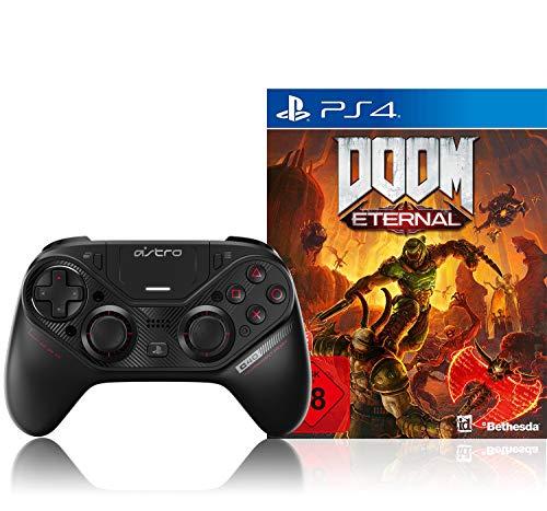 ASTRO Gaming C40 TR-Controller (kompatibel mit PS4 und PC, schwarz) + Doom Eternal inkl. Metal Plate (Exkl. bei Amazon) - [Playstation 4]