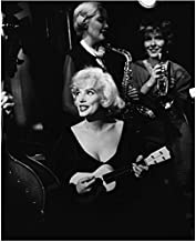 Marilyn Monroe 8x10 Photo Some Like It Hot The Seven Year Itch Gentlemen Prefer Blondes B&W Playing Ukelele & Singing kn