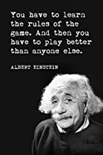 learn the rules of the game albert einstein