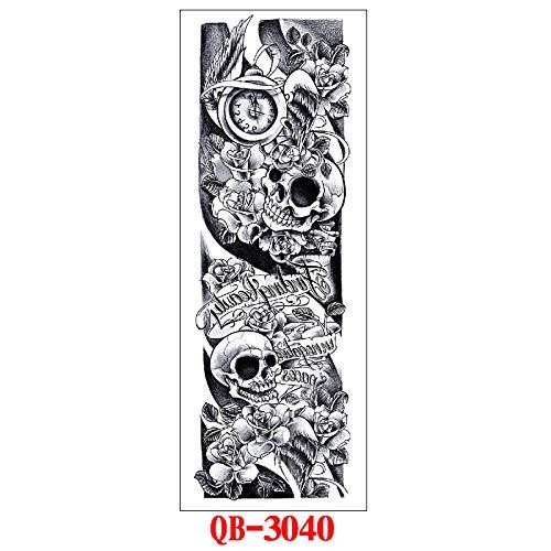 Handaxian 3pcs-Full Tattoo Tattoo Sticker Set Flor Brazo Full Arm Tattoo Sticker Tatuaje 3pcs-34