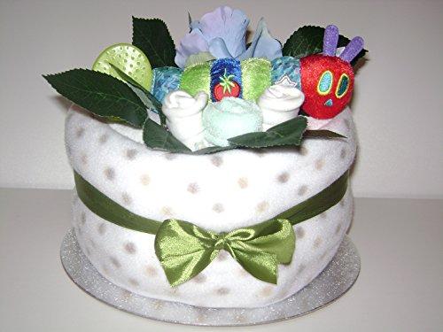 1 niveaux Very Hungry Caterpillar neutre unisexe Coffret cadeau de luxe gâteau de couches pour bébé