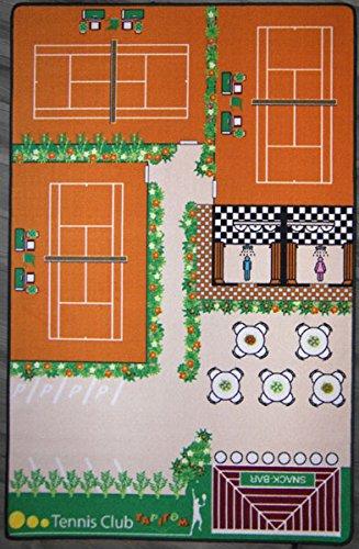 TAPITOM Teppich Kinderzimmer Tennis Teppich, Kinderteppiche, Spielteppich 130x200 cm