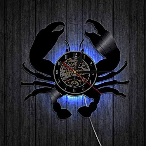 wtnhz Reloj de Pared con Disco de Vinilo LED luz LED Luminosa de 16 Colores, Reloj de Vinilo de 12' Movimiento de Cuarzo Pared de Estilo clásico Hecho a Mano en Vinilo