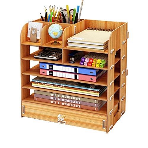 XiuHUa Estantería, Madera, Caja de Almacenamiento en el Escritorio, cajón de múltiples Capas Moderno, Carpeta, Escritorio, Escritorio, Escritorio de Escritorio para niños estantería de Libros