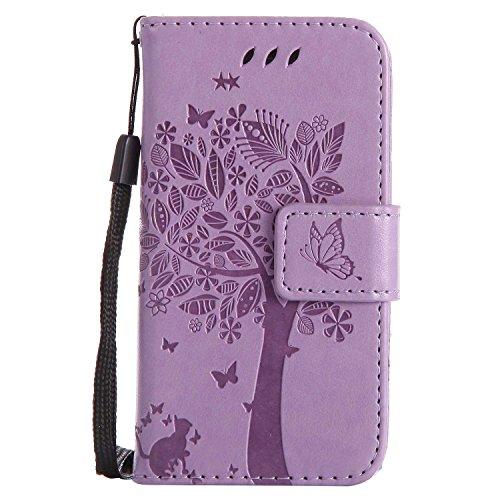 BoxTii® Coque iPhone 4 / iPhone 4s, iPhone 4 / iPhone 4s Housse Coque, Etui de Téléphone en TPU Silicone pour Apple iPhone 4 / iPhone 4s (#12 Violet)