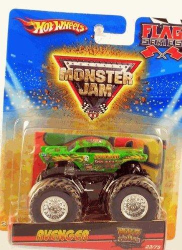 Hot Wheels Monster Jam 2010 Green AVENGER - Flag Series #23/75 1:64 Scale Collectible Truck