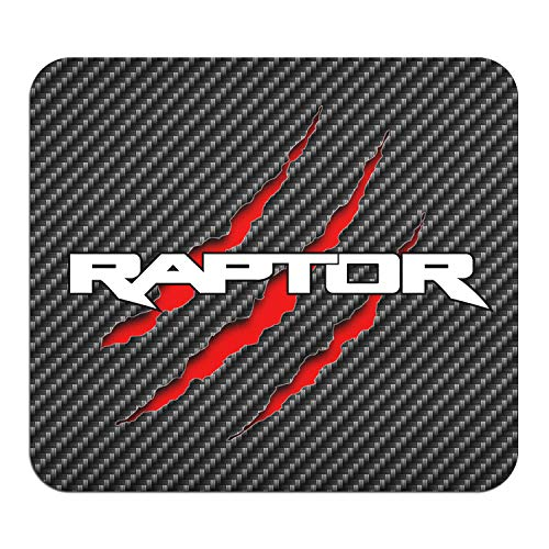 Ford F-150 Raptor Claw Marks Graphic PC Mouse Pad - Custom Designed for Gaming and Office (Carbon Fiber)