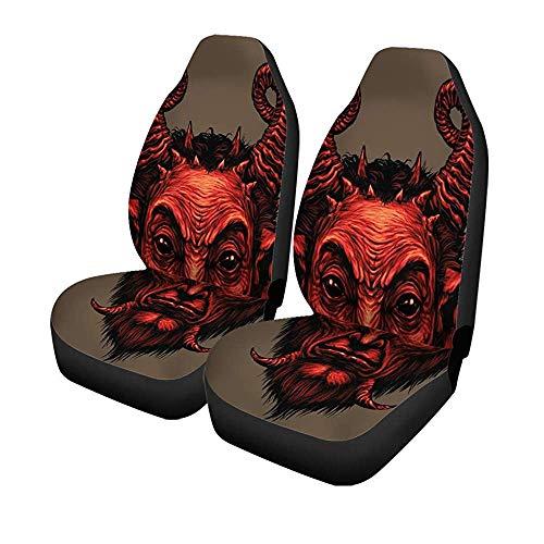 Beth-D Set mit 2 Autositzbezügen für Sackkarre, Satire, Satan, Halloween-Monster