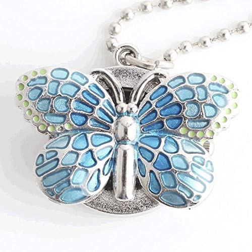 HBIN Nuevo diseño pequeño de la Mariposa Llavero Bolsillo Llavero Reloj señora niños niñas