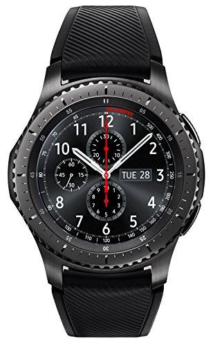 Samsung Watch Gear S3 Frontier LTE (SM-R765) - Serial Black Black Rubber Band - Verizon - Renewed