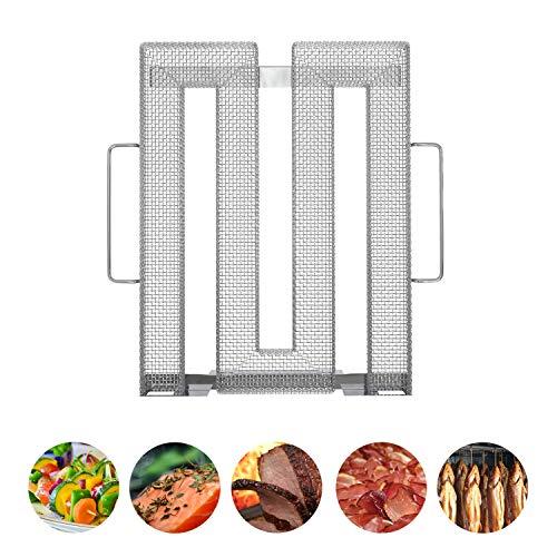 Neco+ | Kaltrauchgenerator | Kaltraucherzeuger | Sparbrand für Räucherofen, Smoker und Grill – Räuchern von Fleisch, Fisch & Gemüse | Aus hochwertigem Edelstahl | Feinste Raucharomen durch Kaltrauch